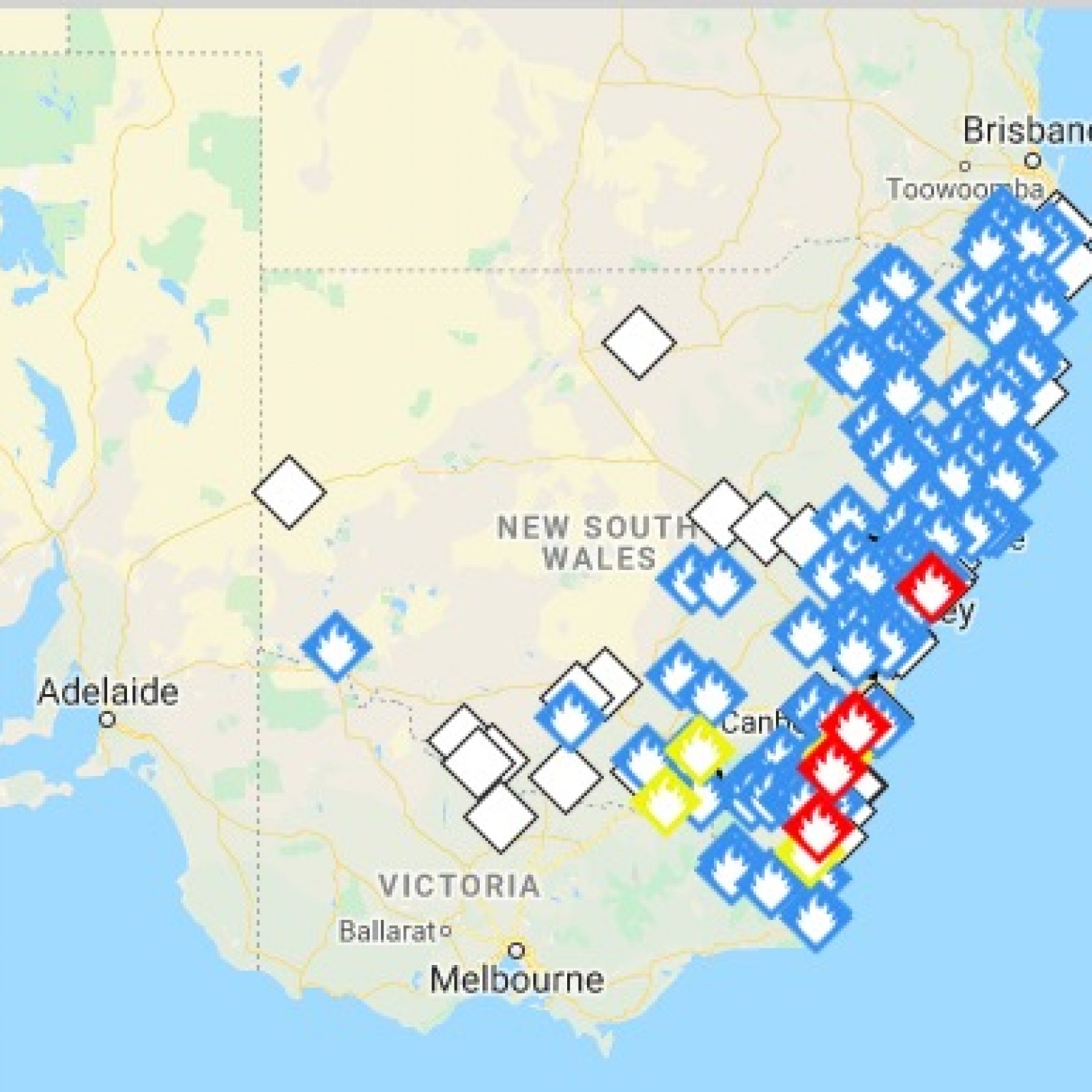 Australia Wildfires Map: More Than 100 Fires Still Burning ...