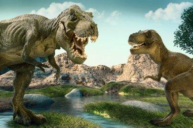artist impression of t. rex