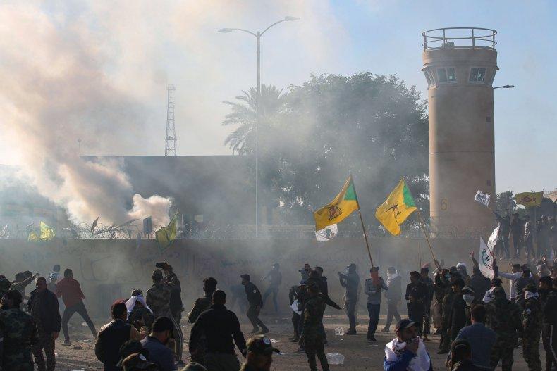 iraq, us, embassy, protests, baghdad
