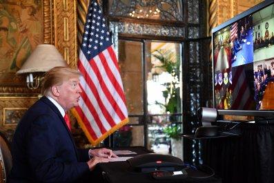 Donald Trump Calls Troops Christmas