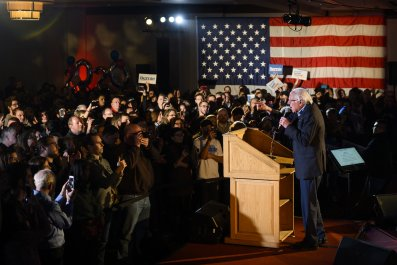 Bernie Sanders Holds New Year's Eve Rally