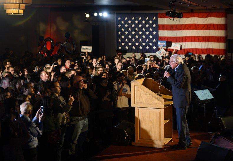 Bernie Sanders Holds New Year's Eve Rally