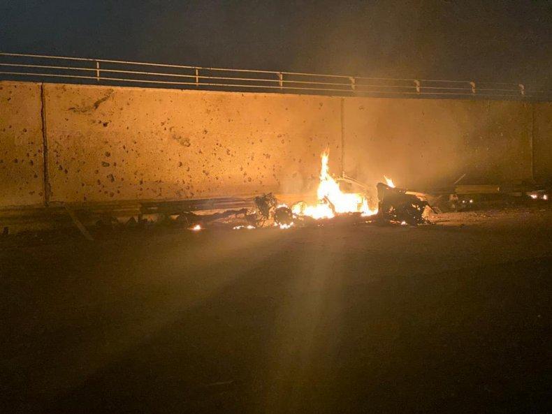 iraq, attack, car, destruction, rockets