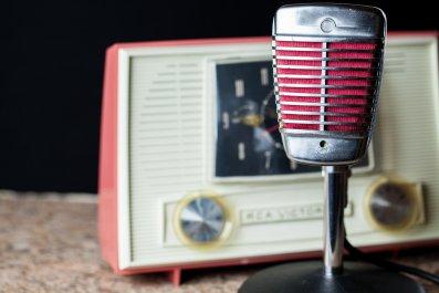 pink radio mic