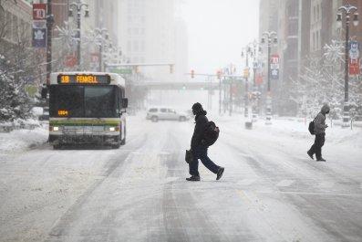 Detroit, Snow