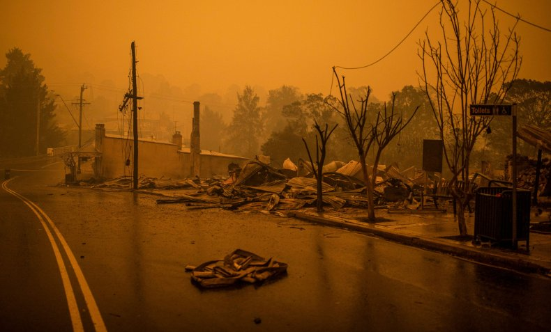 australia wildfire pictures flames