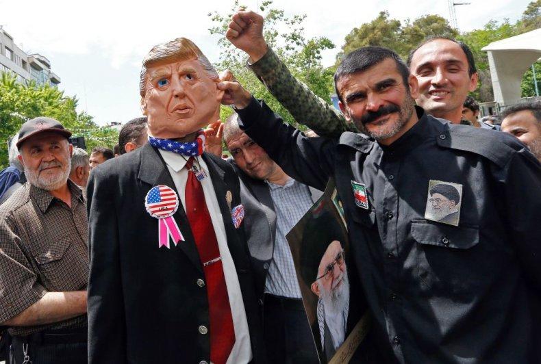 Iran protest against Trump