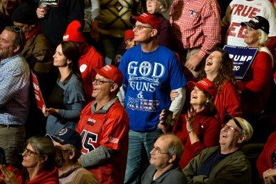 trump supporters civil war warning