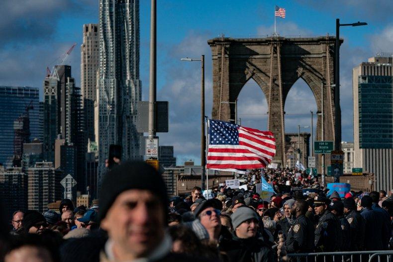 Jewish Solidarity March Brooklyn Bridge