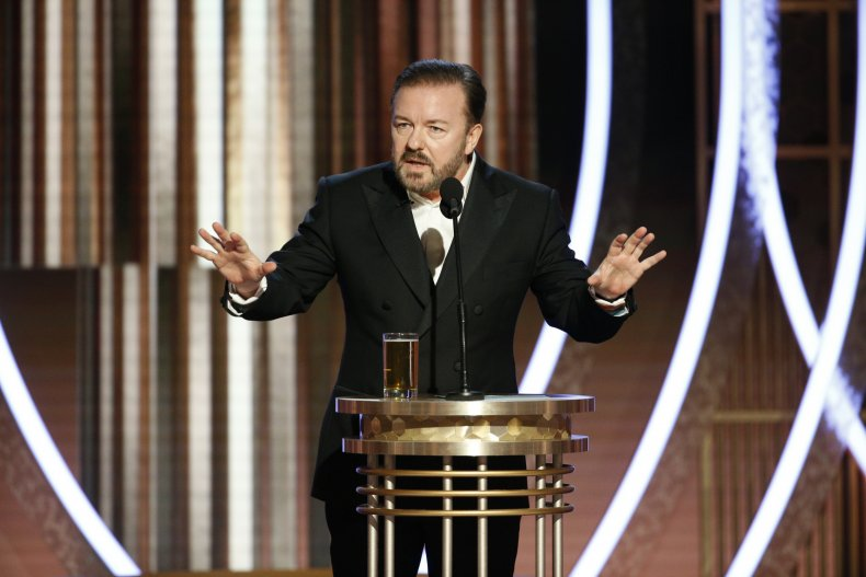 Golden Globes Ricky Gervais Opening Monologue jokes