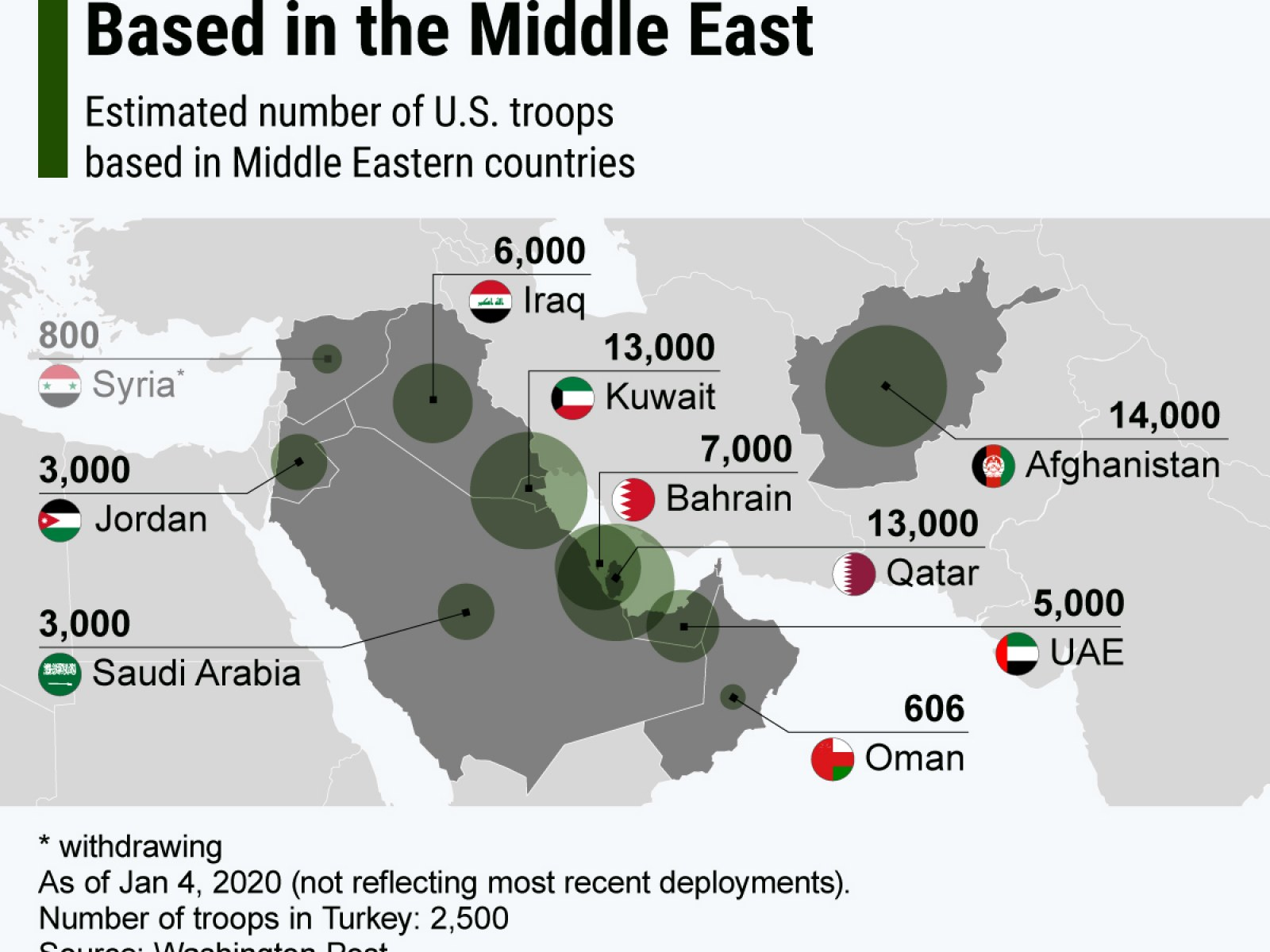 Us Troops In Afghanistan Map Where Are U.S. Troops Near Iran? Tens of Thousands of American