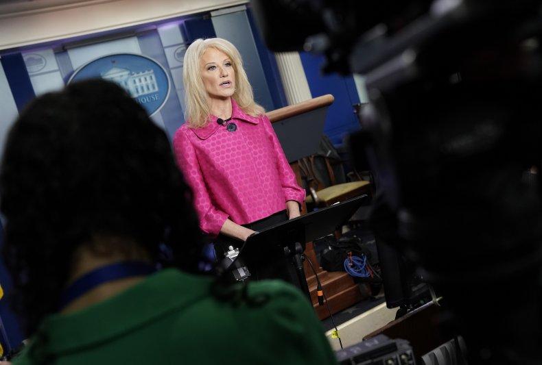 Kellyanne Conway Speaks To The Media
