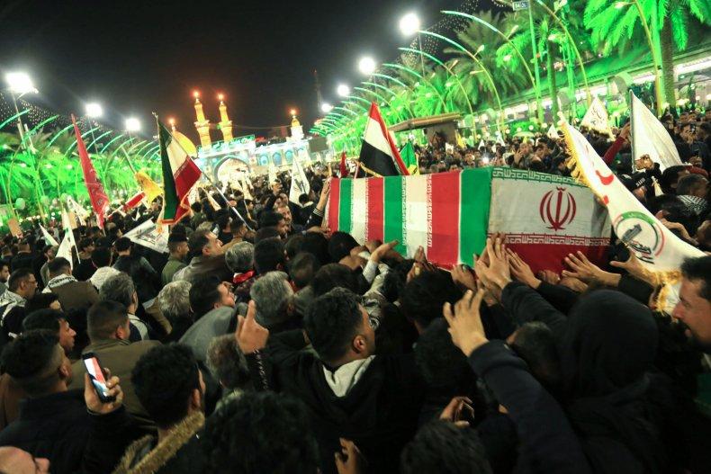 iraq, funeral, soleimani, muhandis, karbala