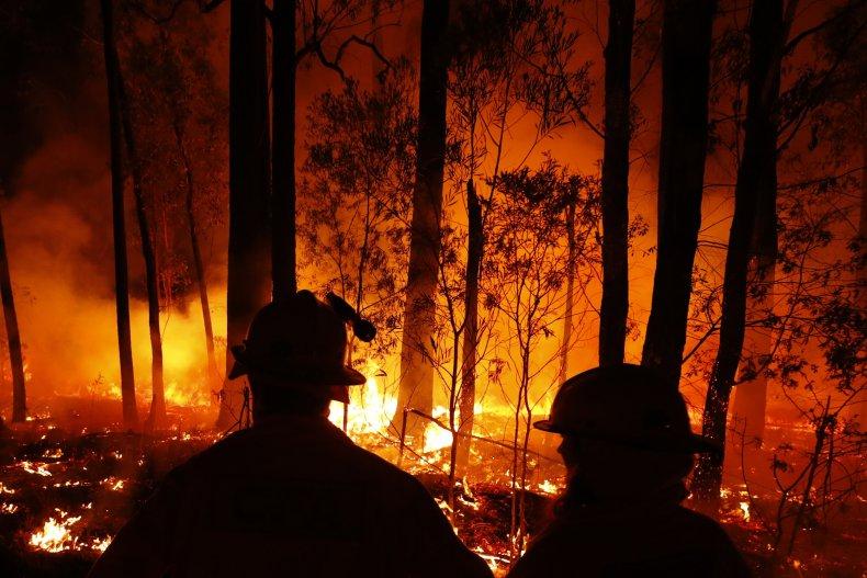 australia wildfire rainfall new south wales