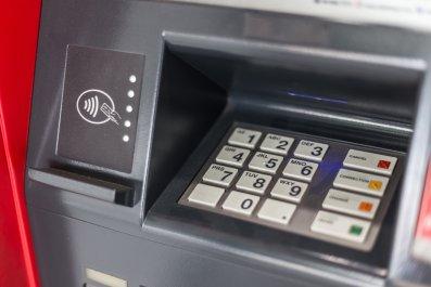 ATM at a bank
