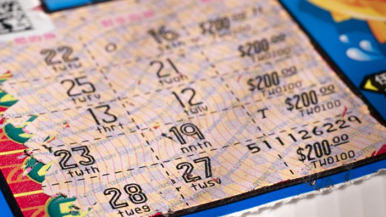 Lottery ticket numbers