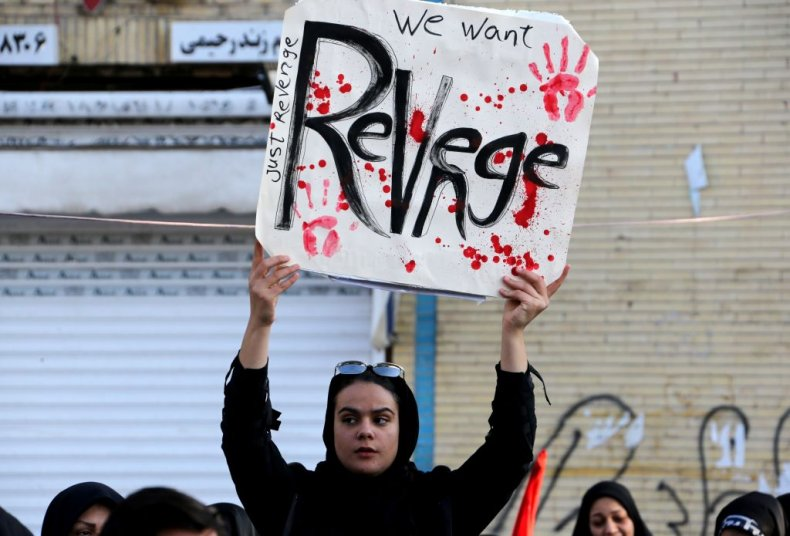 Iranian mourner