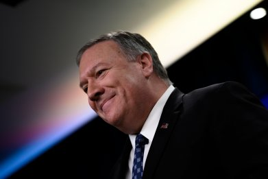 Pompeo Defends Trump's Strike Before Reporters