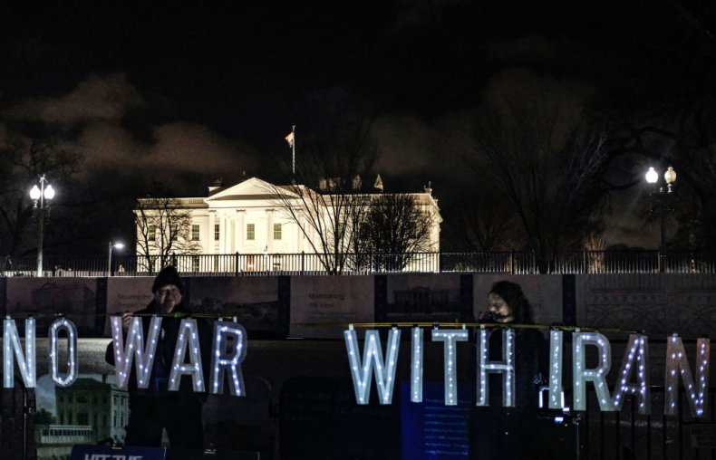 No War With Iran Protest White House