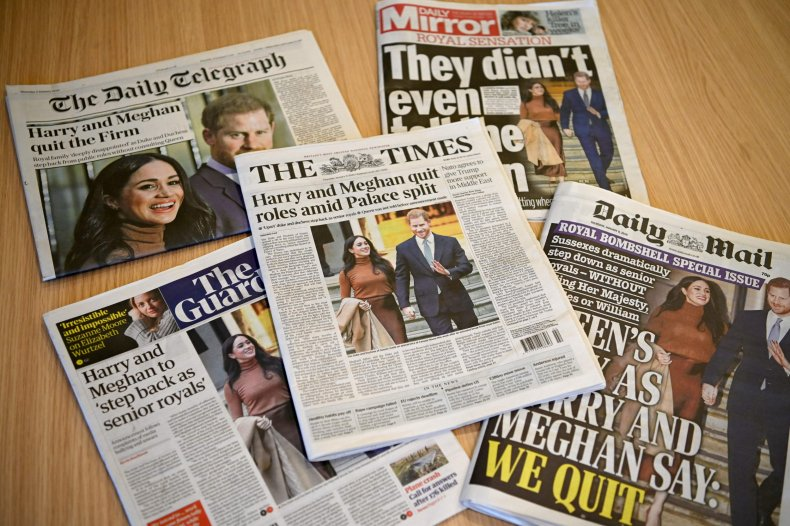 Meghan and Harry newspapers react