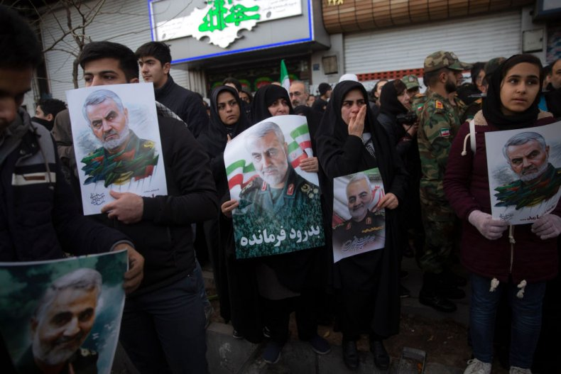 Mourners in Iran