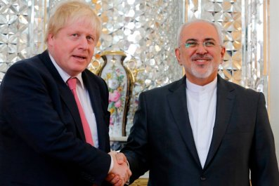 Boris Johnson and Javad Zarif
