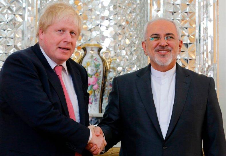 Boris Johnson and Javad Zarif