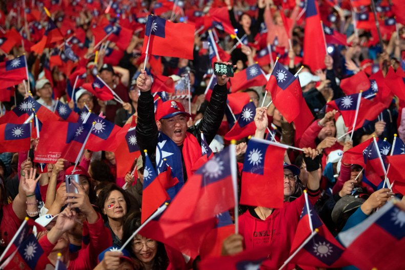 Taiwanese supporters