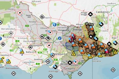 Victoria Fire Map