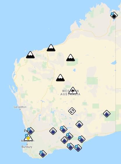 Western Australia Fire Map