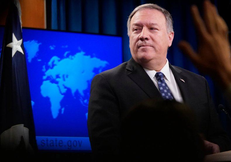 Mike Pompeo speaks at State Department