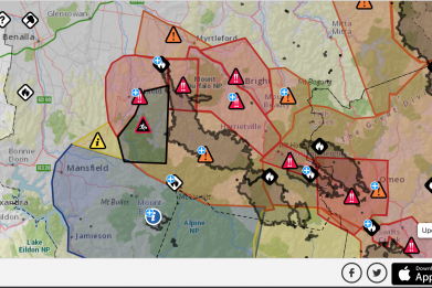 Victoria Fire Warning Map