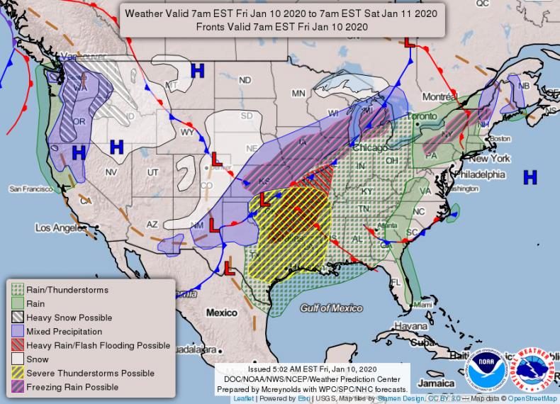 NOAA NWS Forecast Jan 10 2020