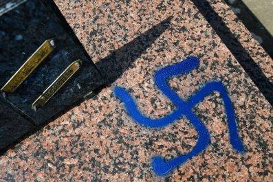 Swastika graffiti in France