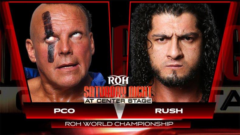 rush vs pco ring of honor saturdaynight
