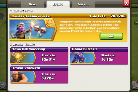 clash of clans town hall wrecking event