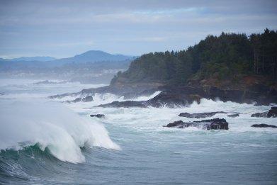 Stock: Crashing Waves on the Oregon Coast