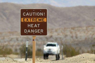 heat wave, death valley, hot weather, getty