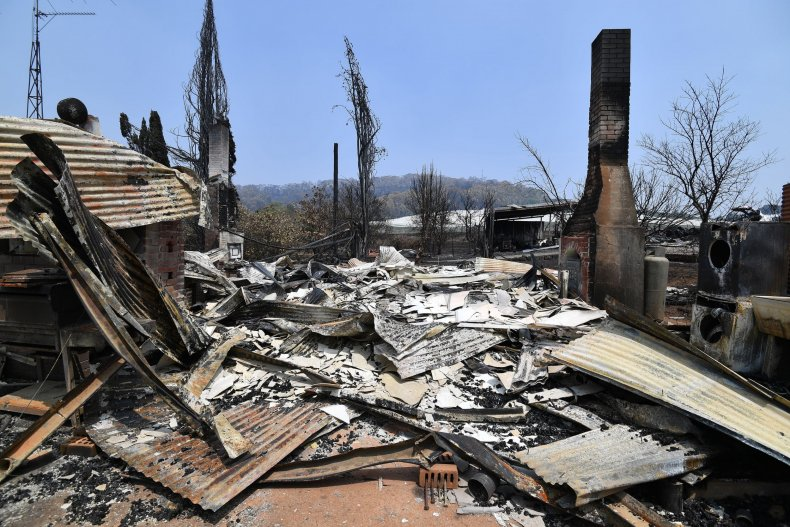 australia wildfires homes destroyed new south wales