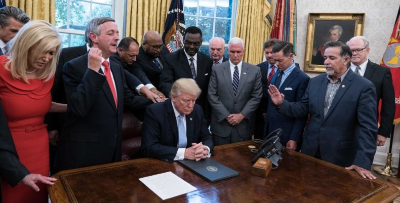 Trump with faith leaders