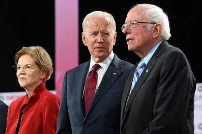 Elizabeth Warren Bernie Sanders Joe Biden 2020