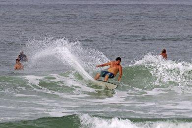 surfers Rodanthe Pier at Cape Hatteras in North Carolina