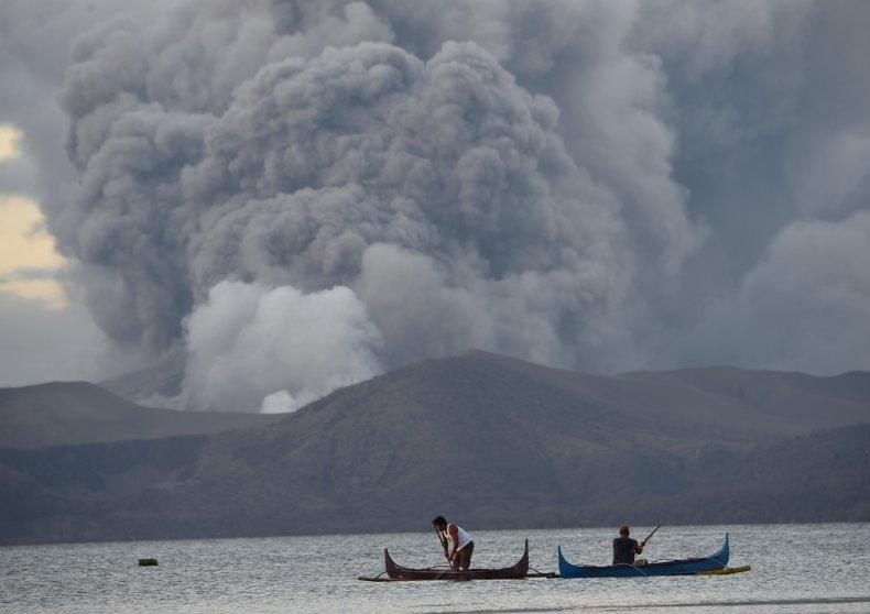 taal volcano eruption Philippines