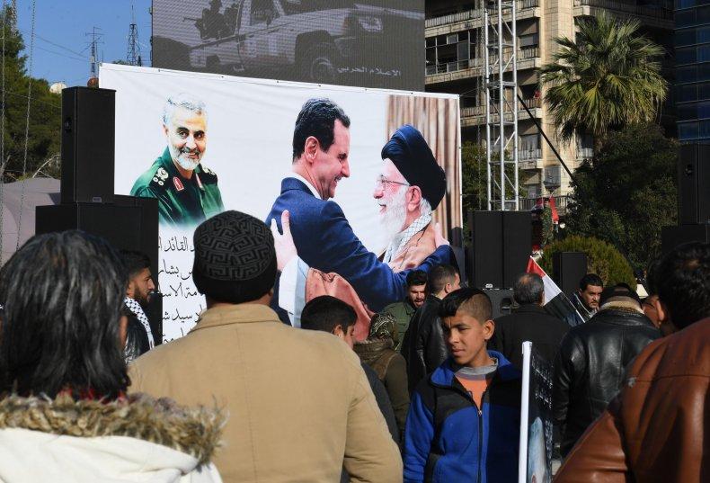 syria, iran, protest, soleimani, death