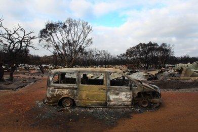 bushfires-van