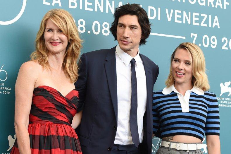 Laura Dern, Adam Driver and Scarlett Johansson
