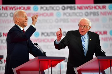 Biden and Sanders Trade Respectful Jabs