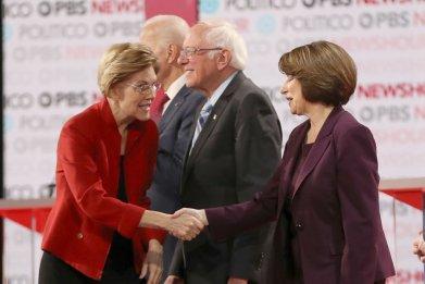 Warren, Sanders and Klobuchar