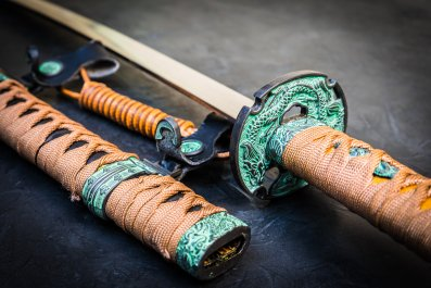 Traditional Japanese swords