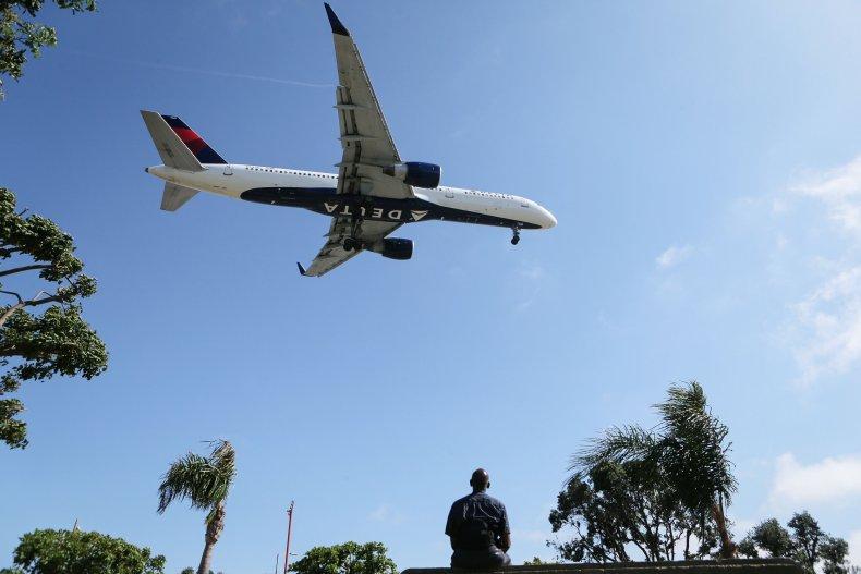 Plane, LAX